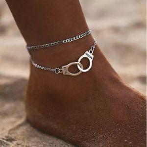Cuff ankle bracelet